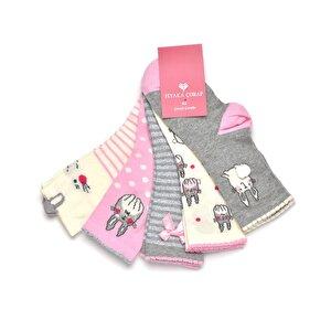 FİYAKA FYK04 Çok Renkli Kız Çocuk Soket Çorap