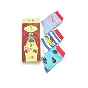 FİYAKA FYK06 Çok Renkli Erkek Çocuk Soket Çorap