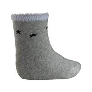 TOTTIKIDS KAYDIRMAZ TABANLI BASKILI Gri Unisex Çocuk Havlu Patik Çorap