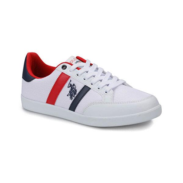 U.S. Polo Assn. SANTO Beyaz Erkek Sneaker Ayakkabı