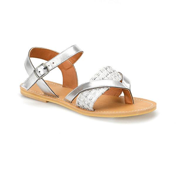 Art Bella CS19154 Gümüş Kadın Sandalet