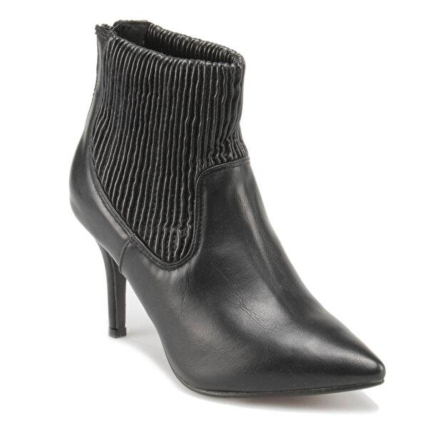 Miss F F17133 Siyah Kadın Topuklu Bot