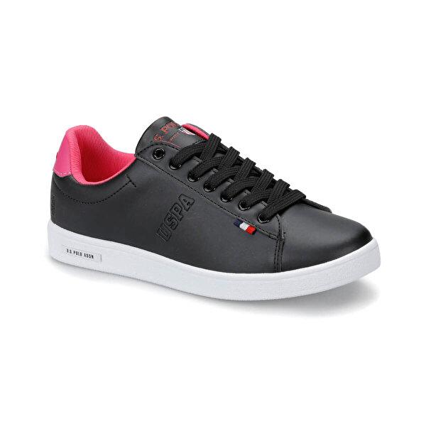 U.S. Polo Assn. FRANCO Siyah Kadın Sneaker Ayakkabı