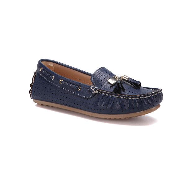 Butigo S969 Lacivert Kadın Loafer Ayakkabı