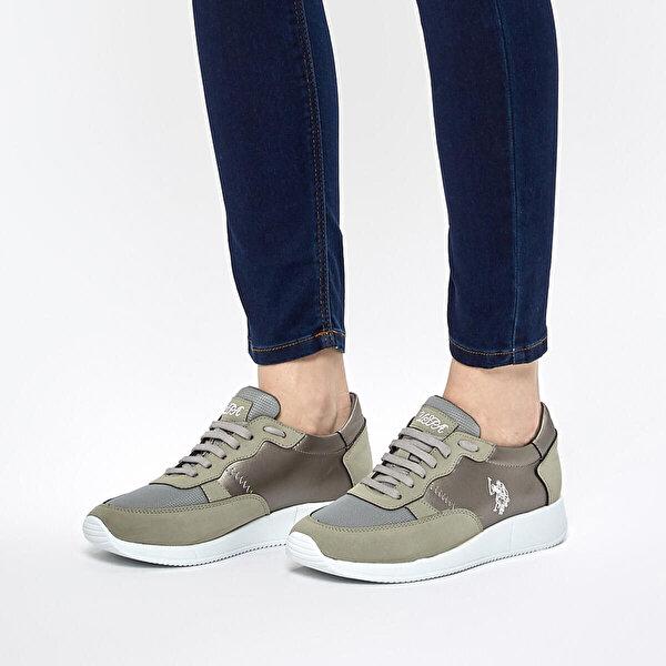 U.S. Polo Assn. LINDA Gri Kadın Sneaker Ayakkabı