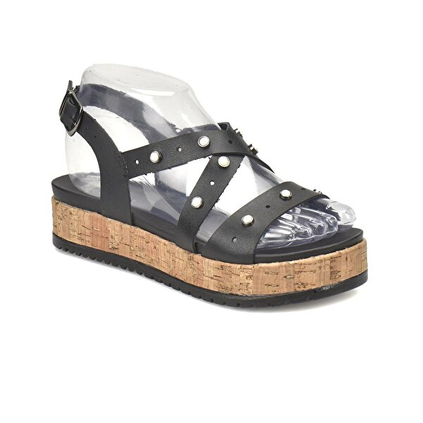 Art Bella CS18067 Siyah Kadın Sandalet