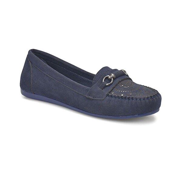 Miss F DS18017 Lacivert Kadın Loafer Ayakkabı