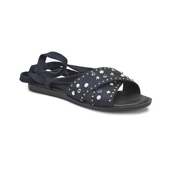 Miss F DS18066 Lacivert Kadın Klasik Ayakkabı