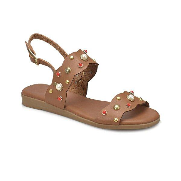 Miss F DS18086 Taba Kadın Sandalet