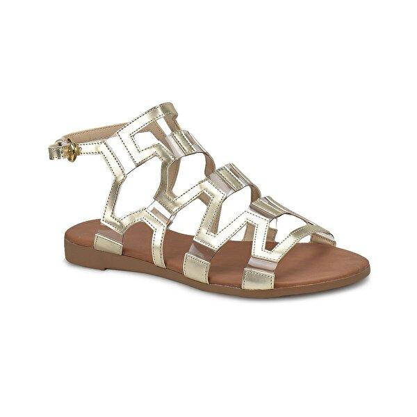 Miss F DS18060 Altın Kadın Klasik Ayakkabı