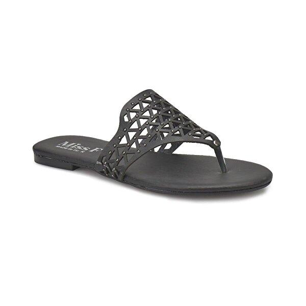 Miss F DS18101 Siyah Kadın Klasik Ayakkabı