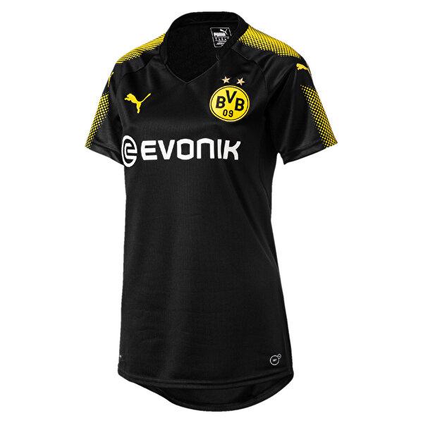 Puma BVB WMS AWAY REPLICA Siyah Kadın Kısa Kol T-Shirt