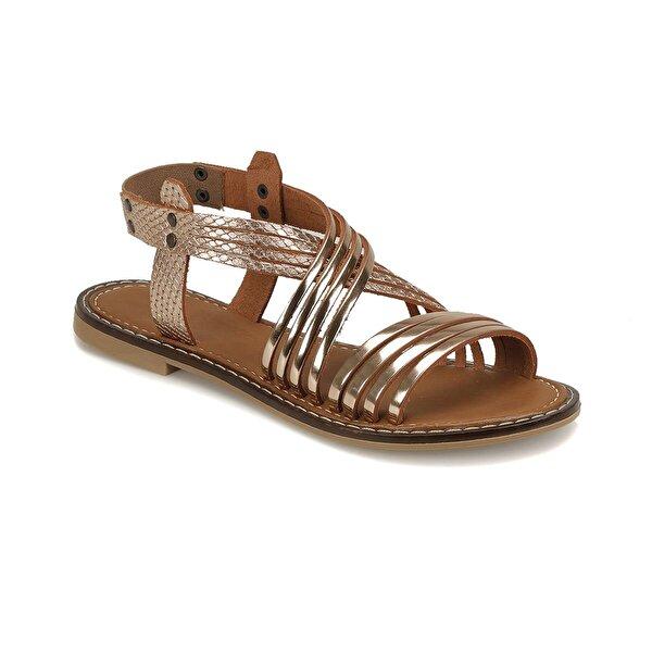 Miss F DS18125 Bronz Kadın Düz Sandalet