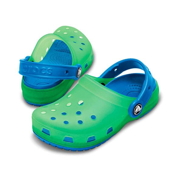 Crocs CHAMELEONS TRANSLUCENT CL Yeşil Erkek Çocuk Terlik