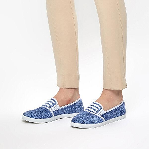 Polaris 91.354987.Z Açık Mavi Kadın Slip On Ayakkabı