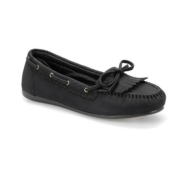 Miss F DS18023-19S Siyah Kadın Loafer Ayakkabı
