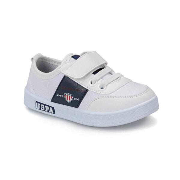 U.S. Polo Assn. CAMERON TEXTILE Beyaz Erkek Çocuk Sneaker Ayakkabı