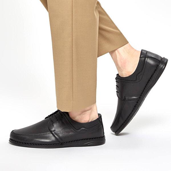 Polaris 5 Nokta 91.110436.M Siyah Erkek Klasik Ayakkabı