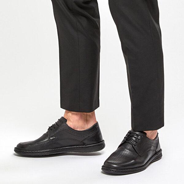 Polaris 5 Nokta 91.100537.M Siyah Erkek Klasik Ayakkabı