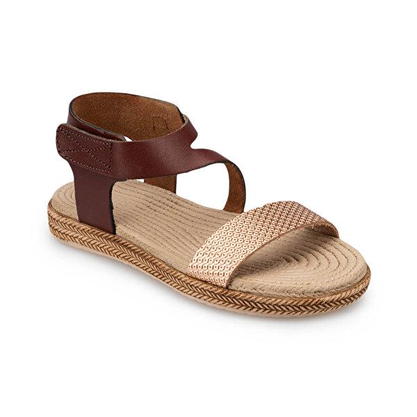 Polaris 91.511412.P Kahverengi Kız Çocuk Sandalet