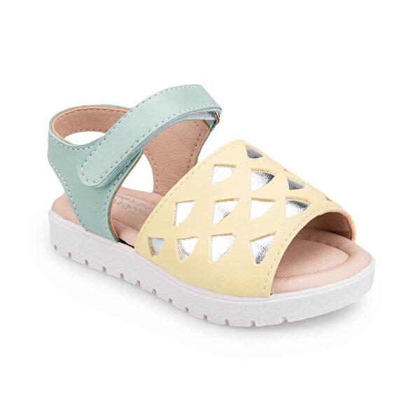 Polaris 91.511047.B Sarı Kız Çocuk Sandalet