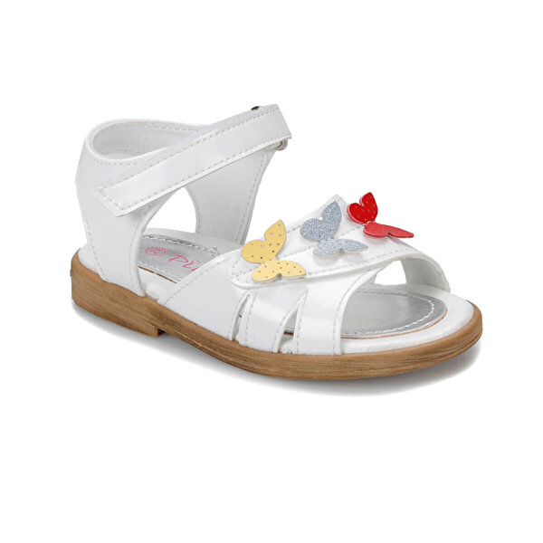 Pink Step 91.TIGGY-2.B Beyaz Kız Çocuk Sandalet