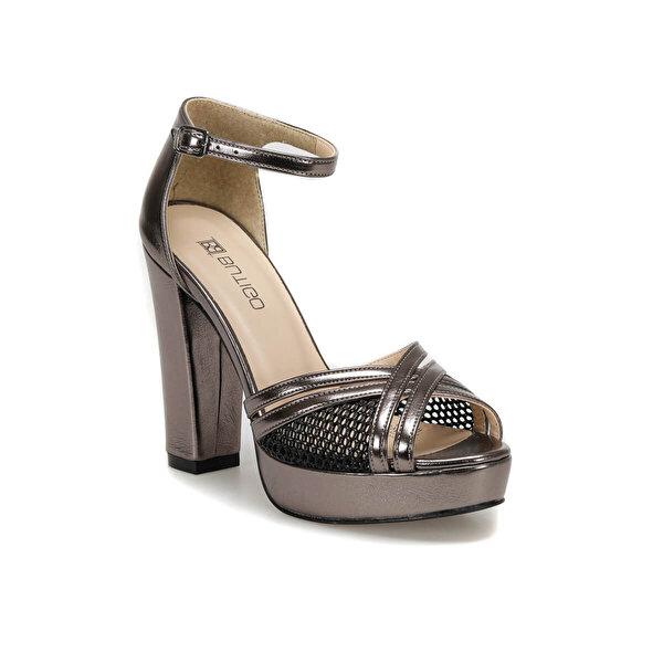 Butigo 19S-368 Antrasit Kadın Topuklu Sandalet
