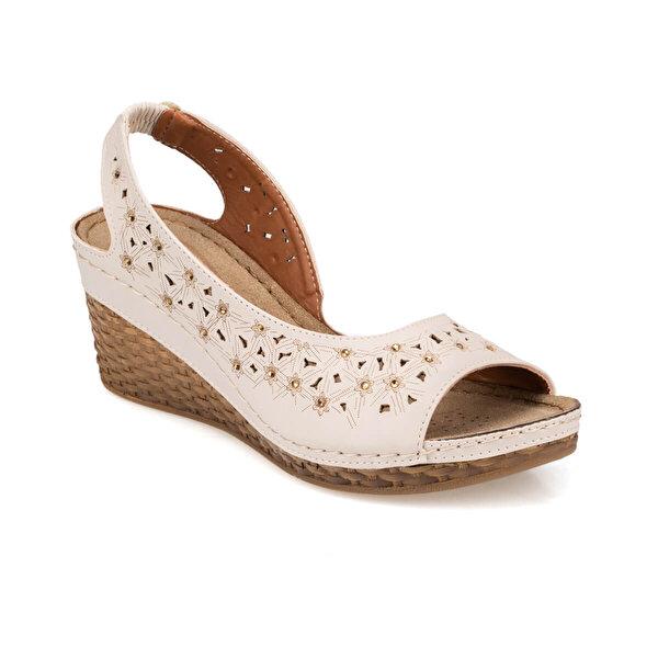 Polaris 91.157342.Z Bej Kadın Sandalet