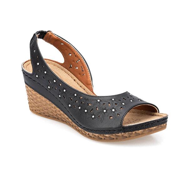 Polaris 91.157342.Z Siyah Kadın Sandalet