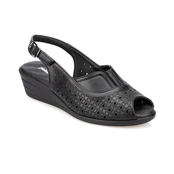 Polaris 91.150795.Z Siyah Kadın Sandalet