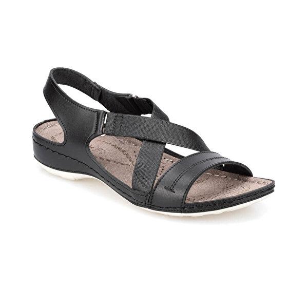 Polaris 91.150772.Z Siyah Kadın Sandalet