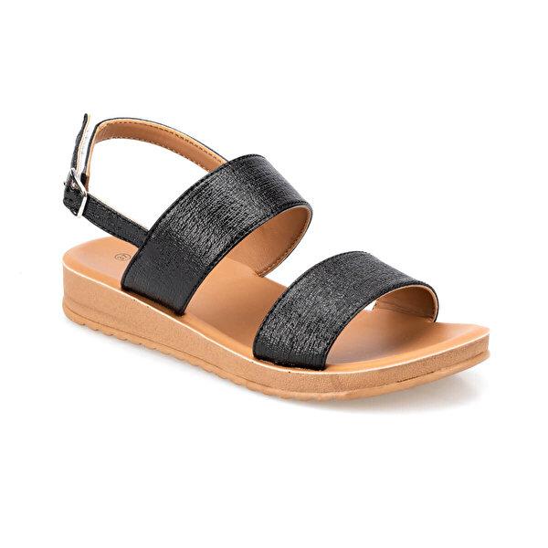 Polaris 91.150785PZ Siyah Kadın Sandalet