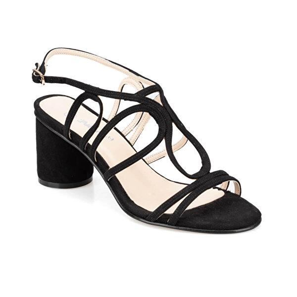 Polaris 91.313182SZ Siyah Kadın Sandalet