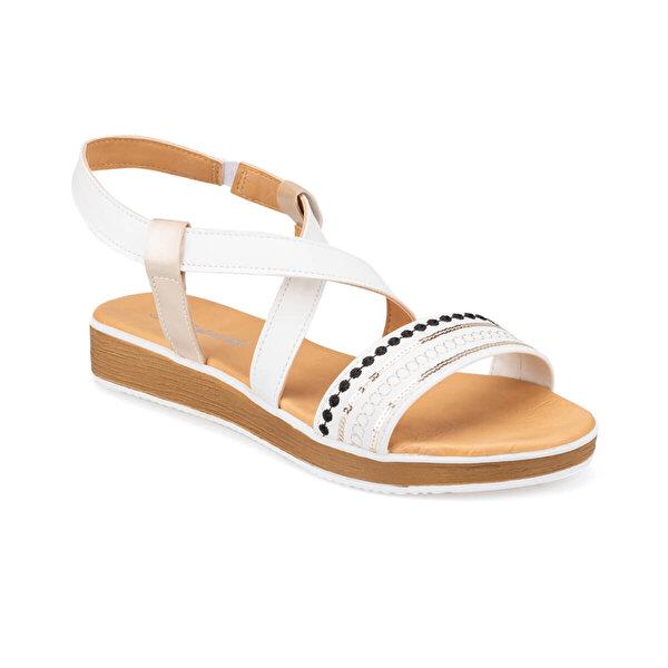 Polaris 91.313270.Z Beyaz Kadın Düz Sandalet
