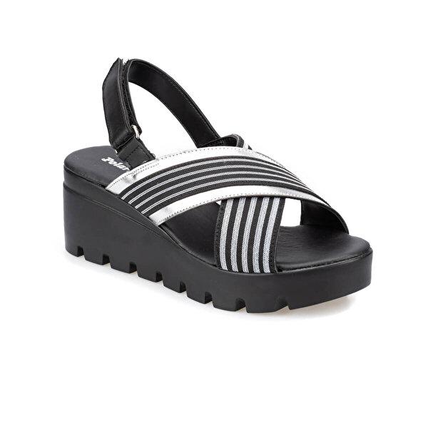 Polaris 91.313251.Z Siyah Kadın Sandalet
