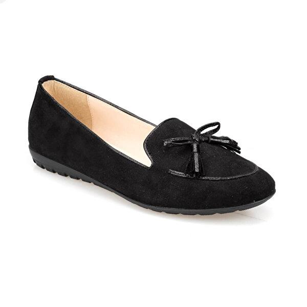 Polaris 91.313056.Z Siyah Kadın Loafer Ayakkabı