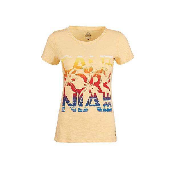 Kinetix JANE-2 T-SHIRT Sarı Kadın T-Shirt
