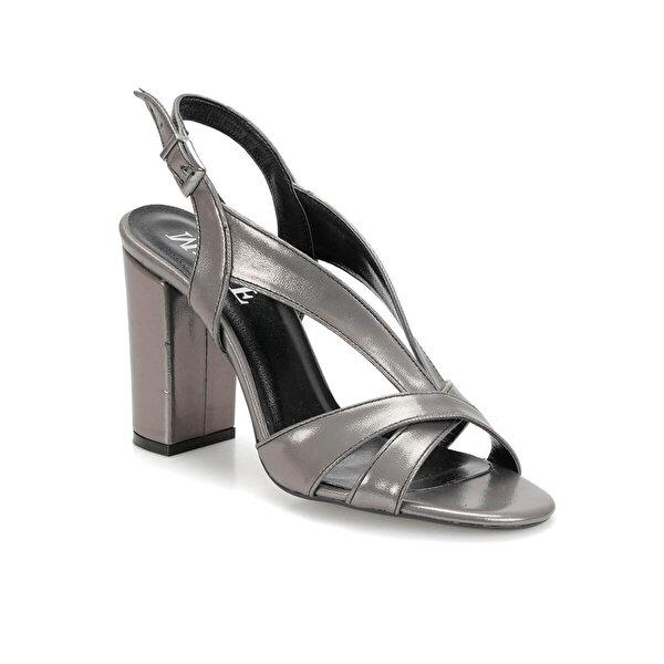 Miss F DS19065 Antrasit Kadın Topuklu Sandalet