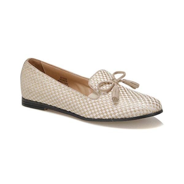 Miss F DS19039 Bej Kadın Loafer Ayakkabı