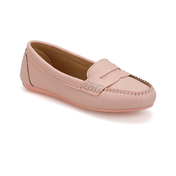 Miss F DS19027 Pudra Kadın Loafer Ayakkabı