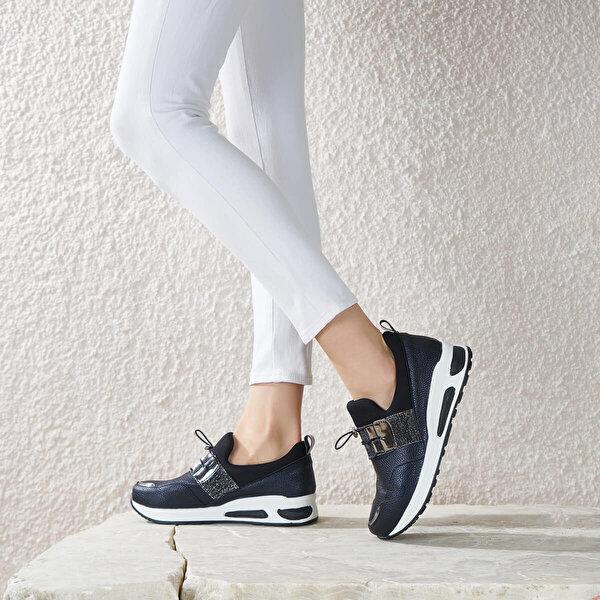 Butigo OPTIMUM85Z CİLT Siyah Kadın Ayakkabı