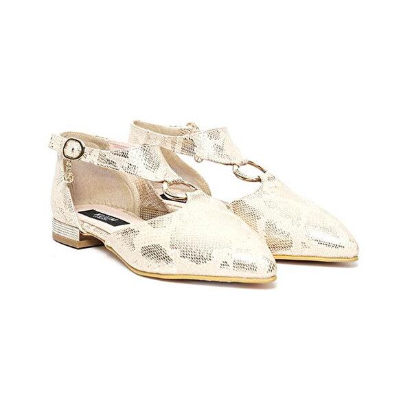 Kuum KZ1003-16 Altın Kadın Sandalet
