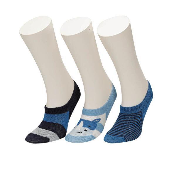 I Cool HIPPO 3 LU SUBA-B Mavi Erkek Çocuk Çorap