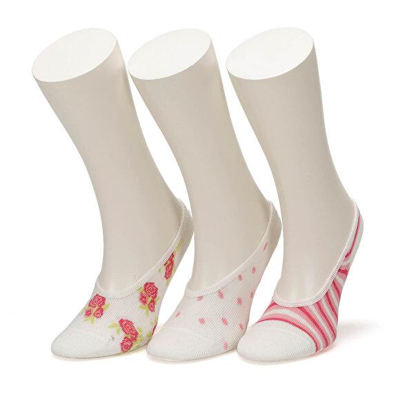 I Cool ROSE 3 LU SUBA-G Pembe Kız Çocuk 3'lü Suba Çorap