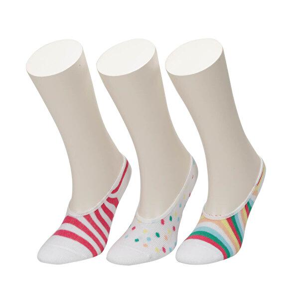 I Cool RENK PUAN 3 LU SUBA-G Çok Renkli Kız Çocuk Çorap
