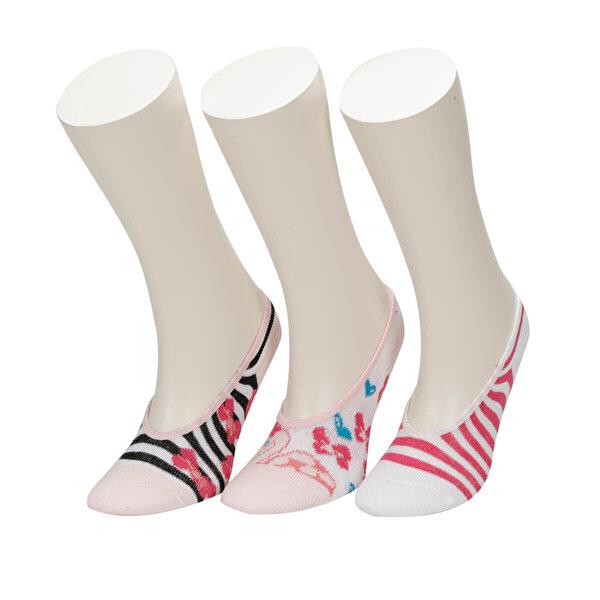 I Cool MINI SWAN 3 LU SUBA-G Pembe Kız Çocuk Çorap