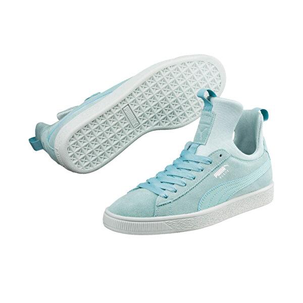Puma SUEDE FIERCE WN Mavi Kadın Sneaker Ayakkabı