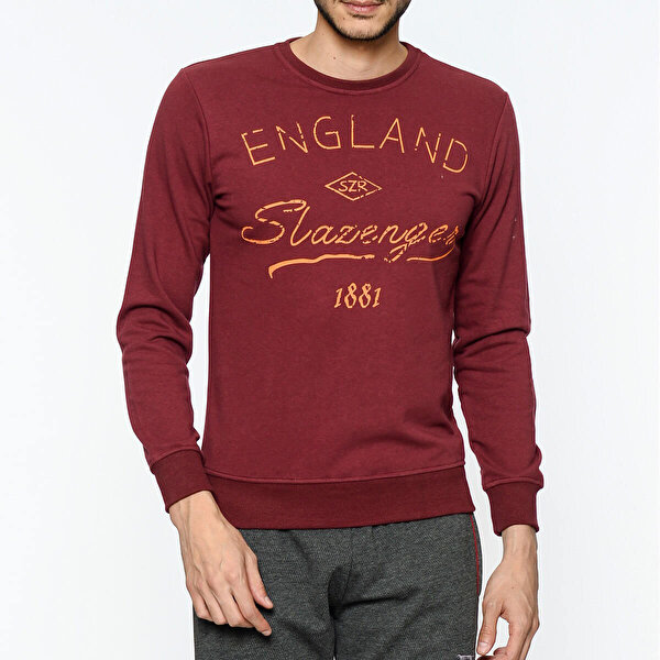 Slazenger ST27WE004-620 Bordo Erkek Sweatshirt