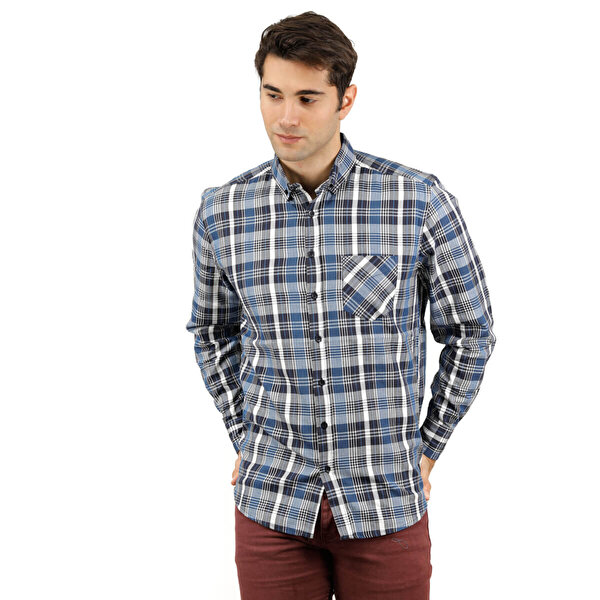 Phazz Brand B3015 Çok Renkli Erkek Uzun Kol Gömlek
