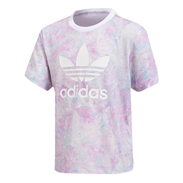 Adidas L GRPHC Çok Renkli Kadın T-Shirt